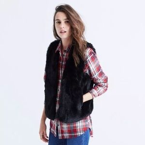 Madewell  Faux Fur black vest